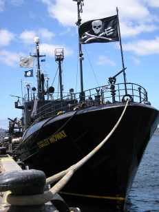 The original Sea Shepherd vessel Farley Mowat. (Sea Shepherd Conservation Society photo)