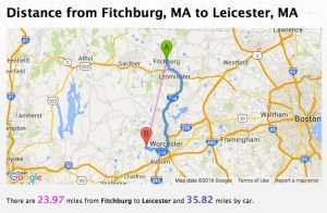 Fitchburg to Leicester