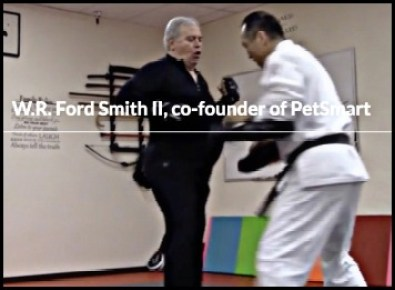 W. R. Ford Smith at karate