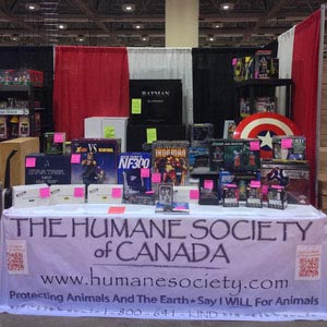 Humane Society of Canada booth at Fan Expo ComiCon 2013 (CNW Group/The Humane Society of Canada)