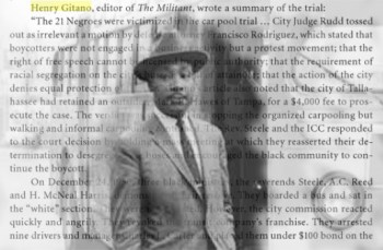 "Henry Spira, as ""Henry Gitano,"" covered Martin Luther King Jr.'s Tallahassee bus boycott."