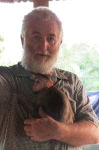 John Hicks,  photographed at the Primate Trust India sanctuary in Goa,  India,  by Darshan Desai of PRAYAS,  in Surat,  India.