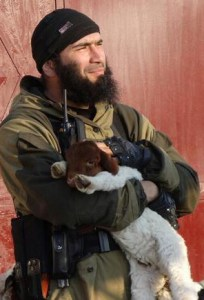 ISIS commander & goat. (Twitter photo)