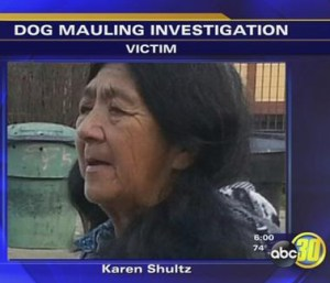 Fatally mauled by pit bulls on the Chuckansi Picayune Reservation in California on November 9, 2014, Karen Shultz, 63, was both a Native American and a senior citizen.