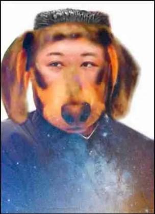 KimJung-un as a dog face