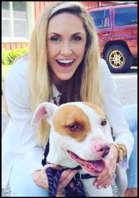 Lara Trump and pit bull