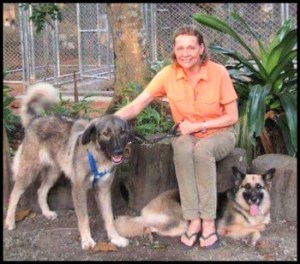 Liza Gadsby and dogs