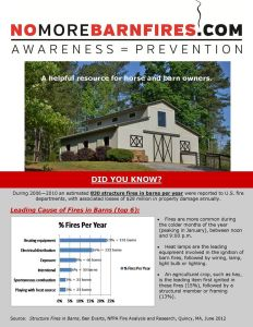 Tips from No More Barn Fires Awareness/Prevention