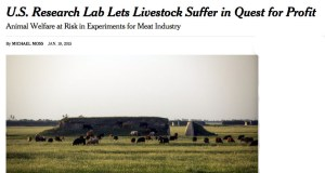 New York Times exposé of U.S. Meat Animal Research Center