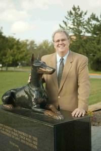 John New at War Dog Memorial. (University of Tennessee photo)