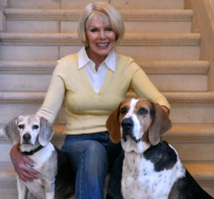 Pat Becker, Minnie & Dixie.