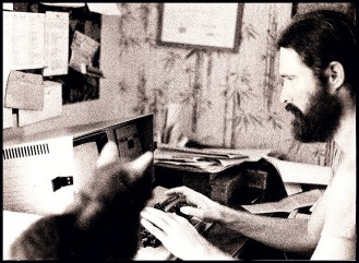 Merritt & cat at desk