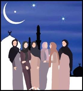 Muslim women temple