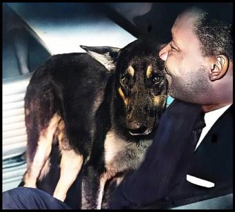 Martin Luther King Jr. & German shepherd