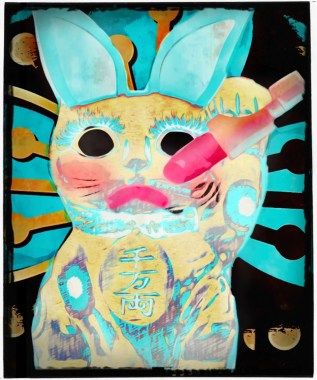 Chinese bunny rabbit with makeup