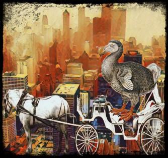 Horse, carriage, dodo