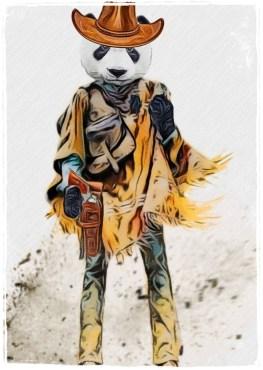Panda cowboy