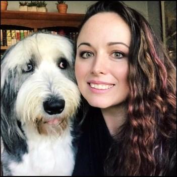 Crystal Alba and dog