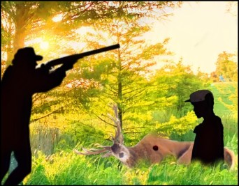 Hunting accident with hunter and Simon Howell