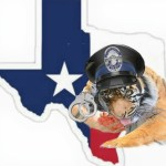 Map of Texas and a tiger