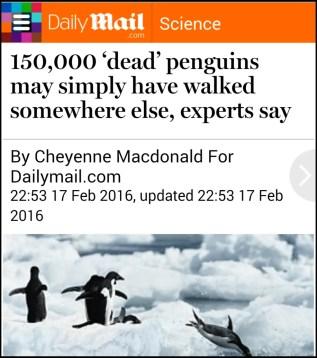 150,000 dead penguins