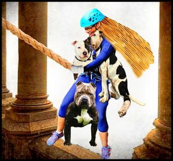 Julie Castle rescuing pit bulls from a castle