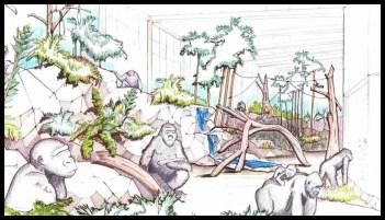 Cincinnati Zoo gorilla habitat
