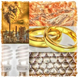 Gold objects by Beth Clifton