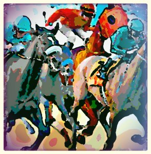 Horse racing by Beth Clifton   ANIMALS 24-7