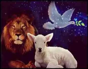 Lion, lamb, dove