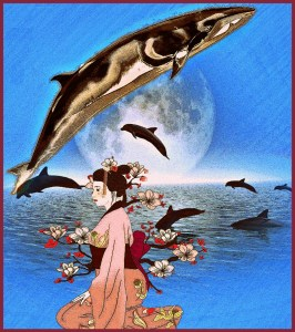 Whale & Japanese lady