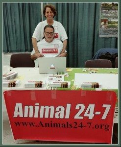 Beth & Merritt Clifton at Vegfest 2016 in Seattle.