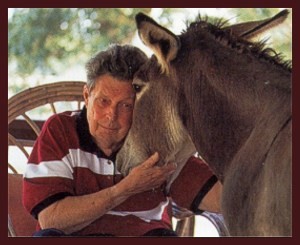 The late Cleveland Amory with an animal he considered morally superior to at least three generations of HSUS leadership,