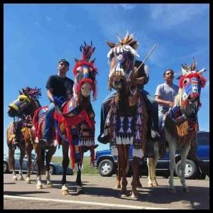 Dakota Access pipeline protest riders.
