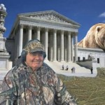 U.S. Supreme Court Justice Scalia finally couldn't outrun the bear