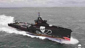 Artist's concept of the Sea Shepherd ship now under construction.