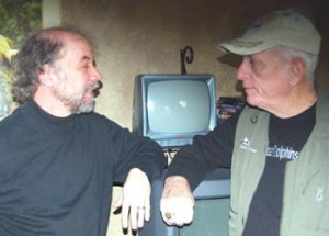 David Phillips (left) and Ric O'Barry (right) at the Sundance Film Festival in 2009.  (Mark Palmer photo)