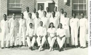 Tuskegee Institute first graduating class of veterinarians, 1949.