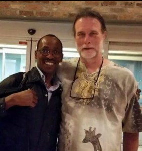 Africa Network for Animal Welfare founder Josphat Ngonyo & ANIMALS 24-7 founder Merritt Clifton. (Beth Clifton photo)