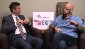 "Wayne Pacelle & ""My Cat From Hell"" Discovery Channel TV program host Jackson Galaxy.  (HSUS photo)"