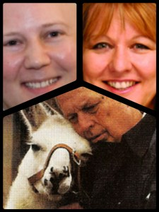 Clockwise from top: Mike Markarian, Heidi Prescott, Cleveland Amory, and Dolly the Llama.