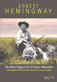 Ernest Hemingway himself appears on this book cover, with a lion he shot in Kenya in 1934.