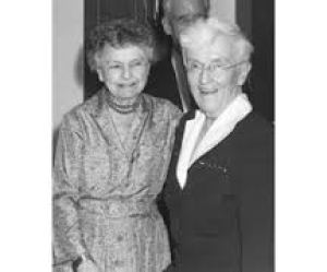 Edith J. Goode & Alice Morgan Wright late in life. (HSUS photo)