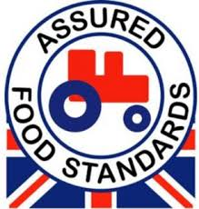 "Original RSPCA ""Red Tractor"" logo."