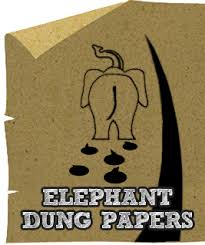Elephant dung paper