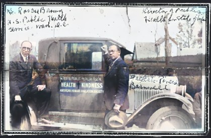 Frederick Rivers Barnwell with American Humane Education Society car