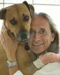 Ady Gil and dog.  (VeganStar photo)