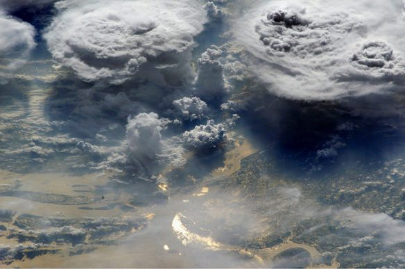 Monsoon clouds over Bangladesh, photographed from the International Space Station NASA