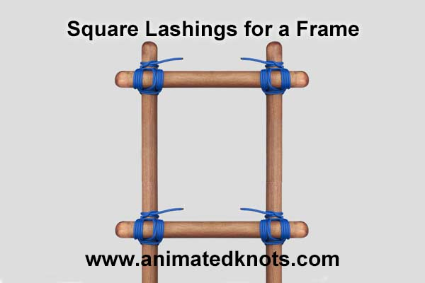 Pictures of Square Lashings for a Frame