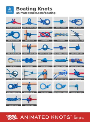 Boating Knots by Grog | Learn How to Tie Boating Knots using StepbyStep Animations | Animated